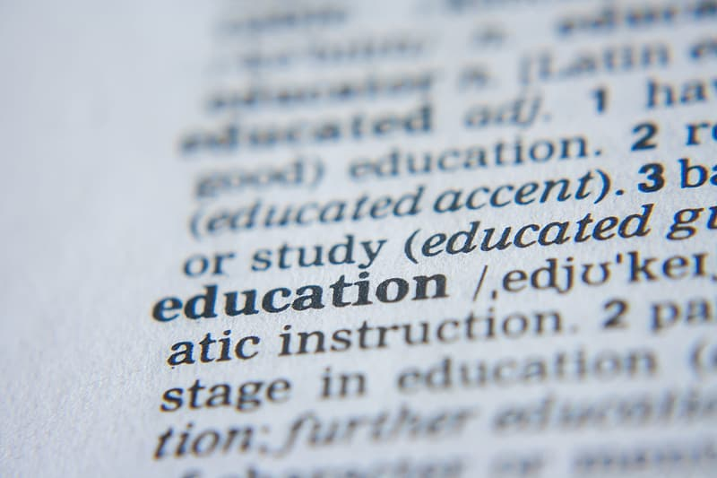 education-text-printed-on-white-paper
